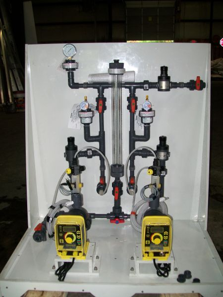 Chemical Feed Skid Fabrication (5)