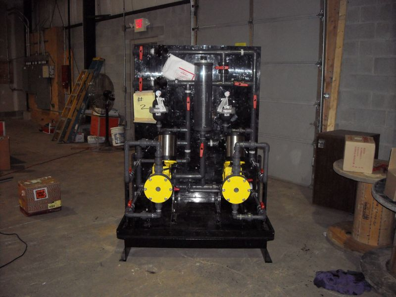 Chemical Feed Skid Fabrication (7)