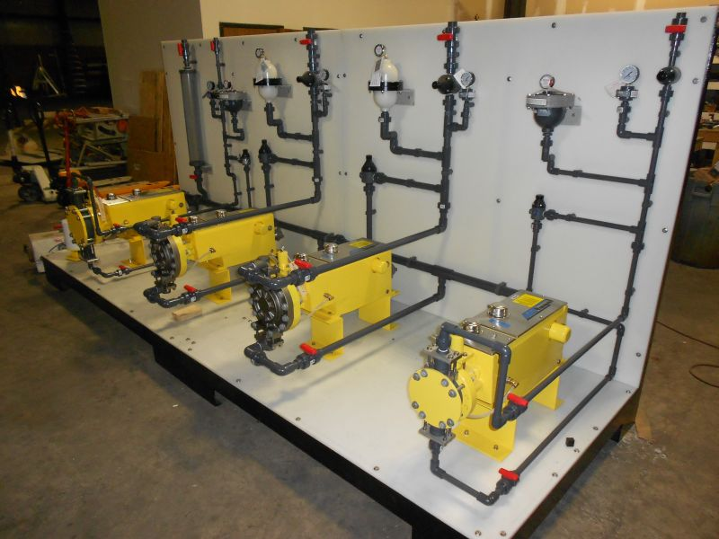 Chemical Feed Skid Fabrication (10)