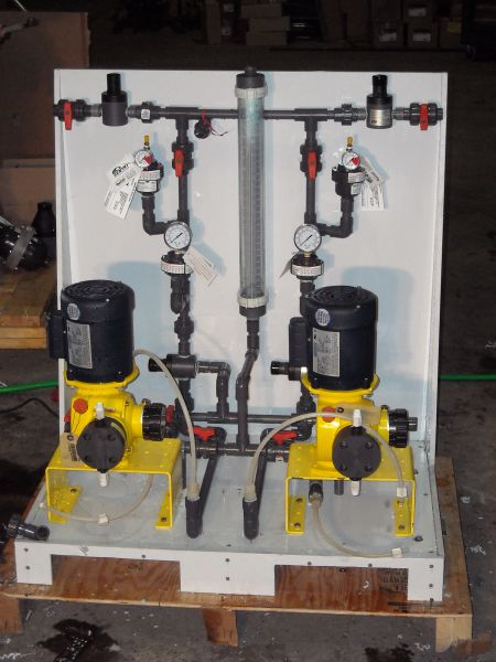 Chemical Feed Skid Fabrication (6)