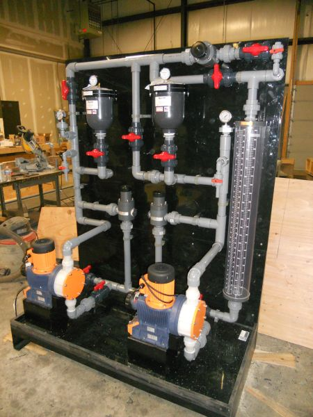 Chemical Feed Skid Fabrication (8)